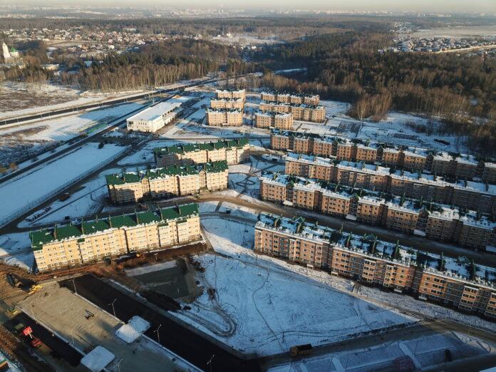 ЖК Марьино Град, фото с квадрокоптера, декабрь 2020